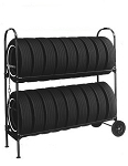 Two-Tier Tire Rack, & Lock Kit (NO SIGN)