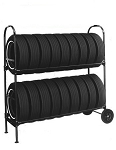 Two-Tier Tire Rack, (NO SIGN)