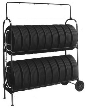 Two-Tier Tire Rack, with Swinging Sign kit & Lock Kit (NO SIGN)